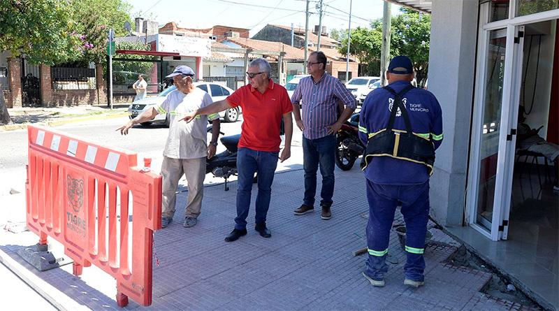En Ricardo Rojas, Julio Zamora supervisó obras realizadas con fondos municipales