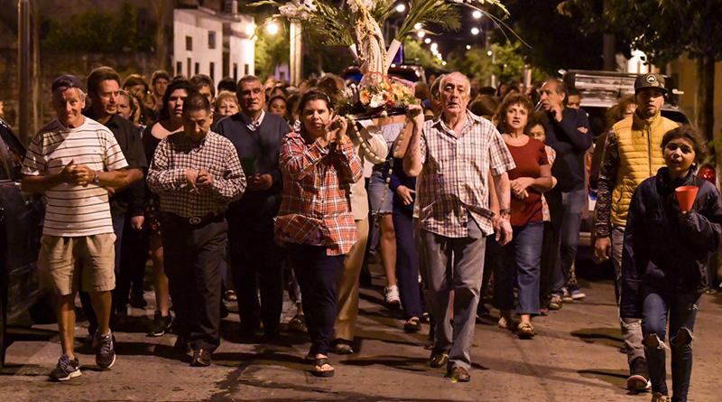 Juan Andreotti acompañó los festejos por la Virgen de Lourdes