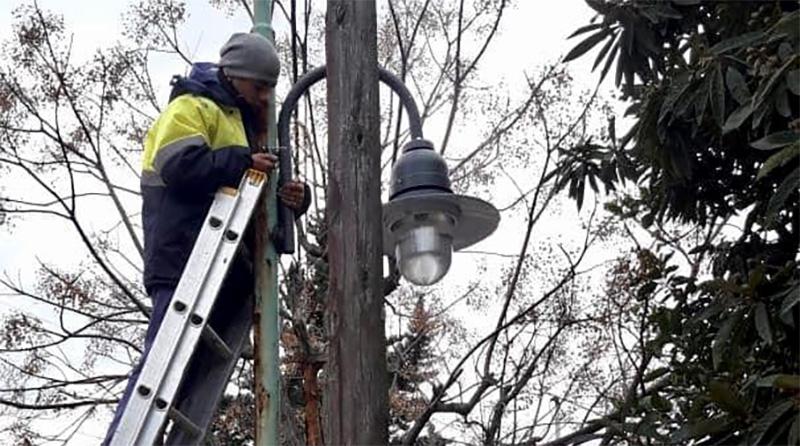 Tigre conecta nuevas luces de vereda en Troncos del Talar y El Talar