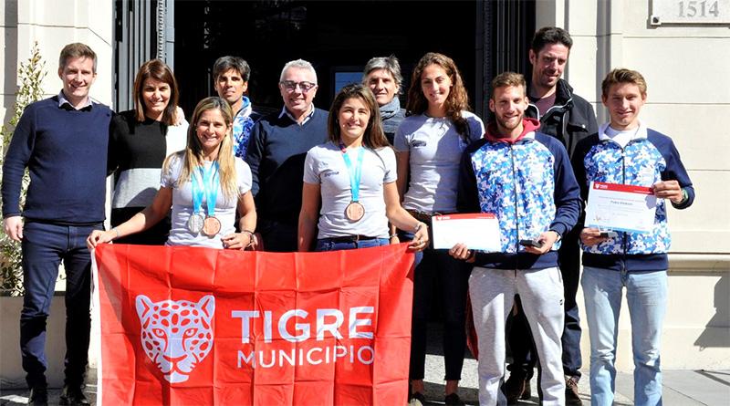 El Municipio reconoció a los remeros tigrenses que compitieron en los Juegos Panamericanos 2019