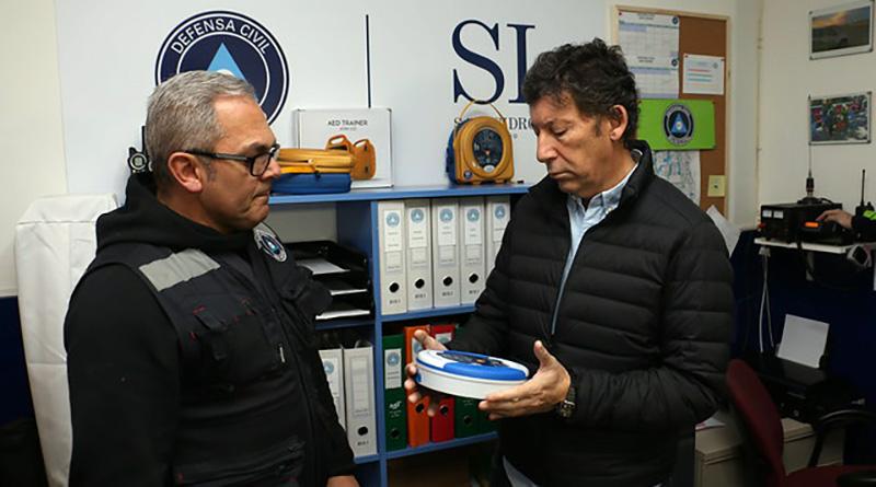 Posse visitó la nueva sede de Defensa Civil San Isidro