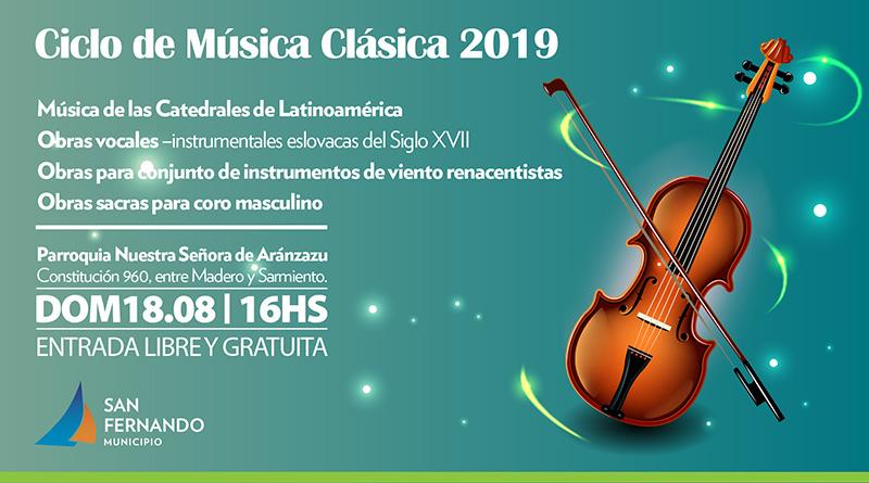 Este domingo, nueva edición del Ciclo de Música Clásica en la Parroquia Aránzazu de San Fernando
