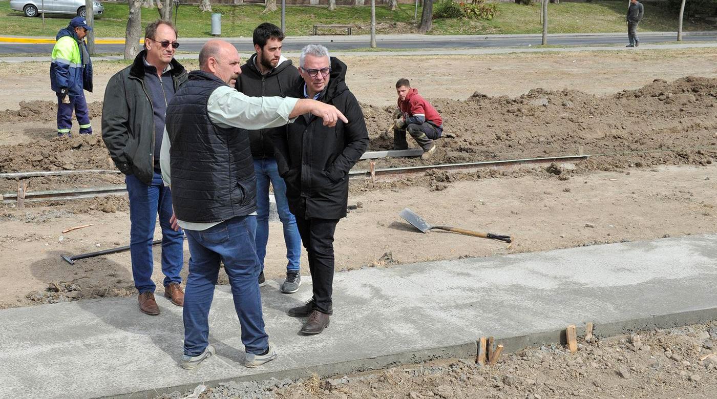 El Municipio construye una nueva senda aeróbica en Benavídez
