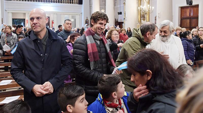 Juan Andreotti participó de los festejos por el Día de Nuestra Señora de Aránzazu