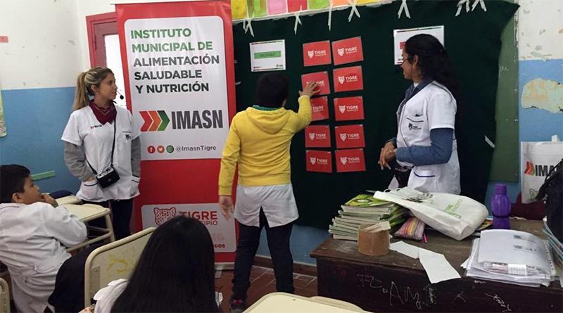 Este año, Tigre brindó charlas sobre alimentación saludable a 13.000 alumnos del distrito