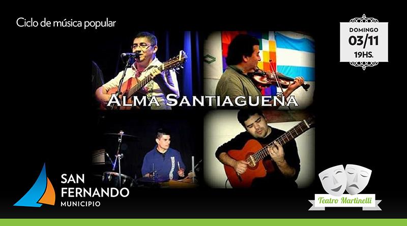"""""""Alma Santiagueña"""" se presenta este domingo en el Teatro Martinelli"""