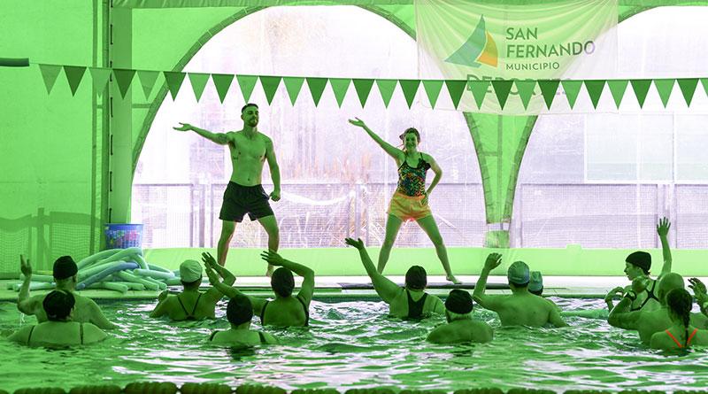 Gran encuentro de gimnasia acuática para Personas con Discapacidad en el Poli 8 de San Fernando