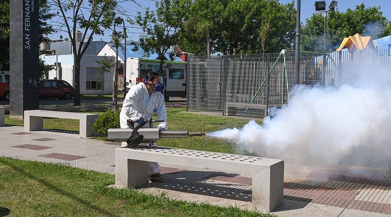 San Fernando llevó el Programa de Control de Plagas al barrio Aviación