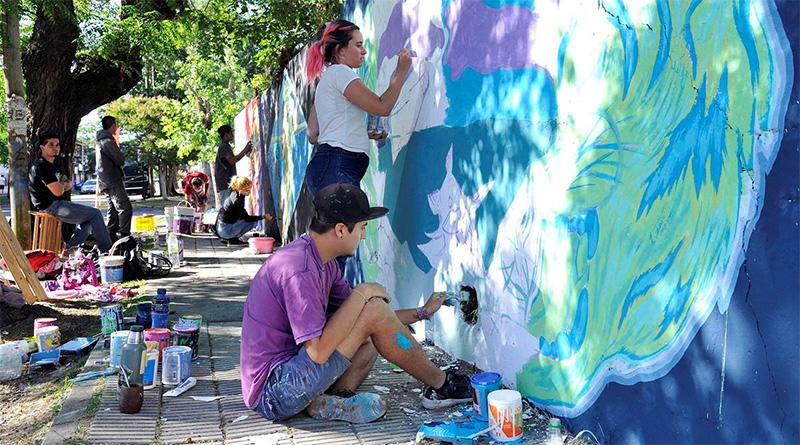 """En la última fecha de """"Pintó Tigre 3"""", diez artistas urbanos plasmaron su arte en El Talar"""