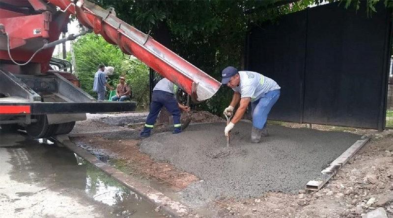 El Municipio construye nuevas veredas en Rincón de Milberg y Don Torcuato