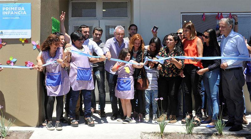Julio Zamora acompañó la inauguración de un Espacio de Primera Infancia en el barrio Cina Cina