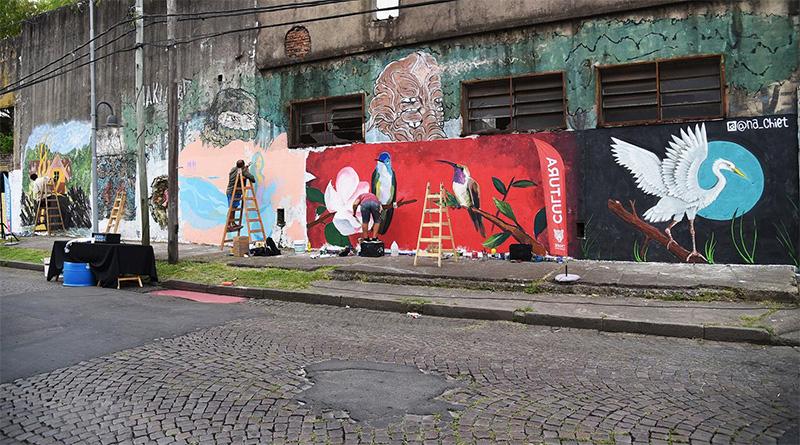 """""""Pintó Tigre 3"""" embelleció las paredes del sur de la ciudad"""