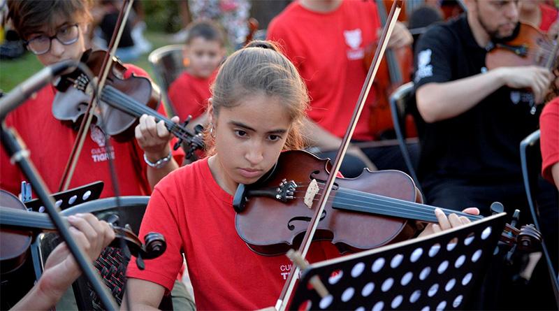 A pura música, el Programa de Orquestas Infanto Juveniles de Tigre realizó su cierre anual