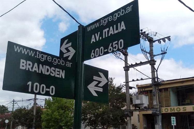El Municipio colocó nuevos nomencladores en Tigre centro