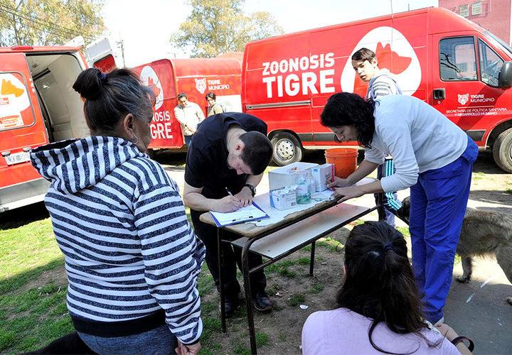 El móvil de Zoonosis cierra enero en distintos puntos de Tigre