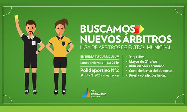 San Fernando formará una Liga de Árbitros de Fútbol Municipal con vecinos y vecinas