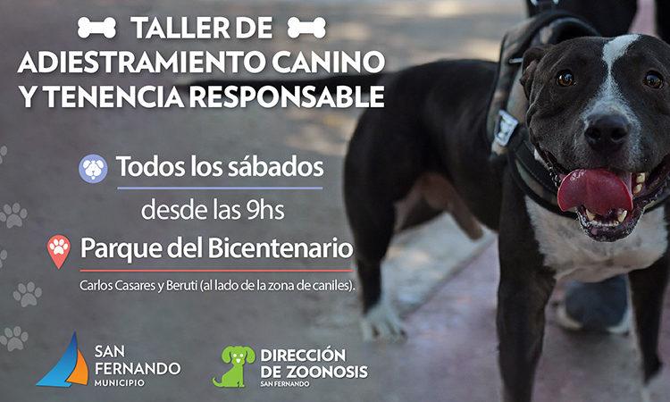 Este sábado vuelve el Taller de Tenencia Responsable y Adiestramiento de Perros de San Fernando