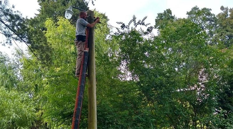 Reparación de luminarias y mantenimiento de césped en el Delta