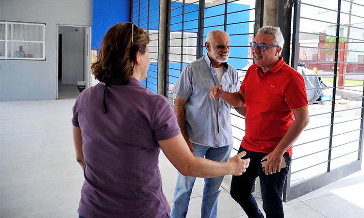 Benavídez: Julio Zamora recorrió la obra de la Escuela Secundaria N°36, próxima a inaugurarse