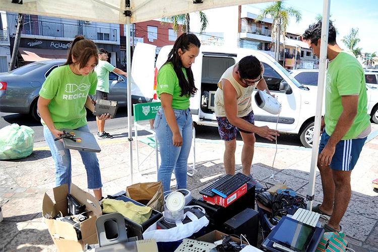 Tigre lleva su Feria de Recolección de Residuos Electrónicos al centro de la ciudad