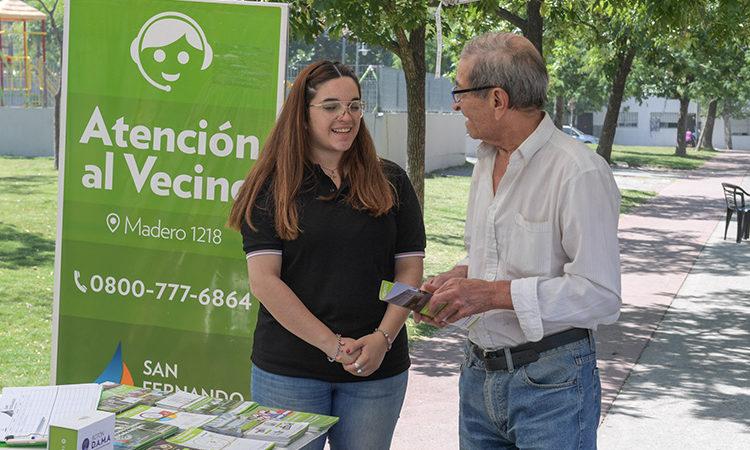 San Fernando llevó los programas de Salud Pública, Zoonosis, el Botón de Pánico y Atención a Virreyes