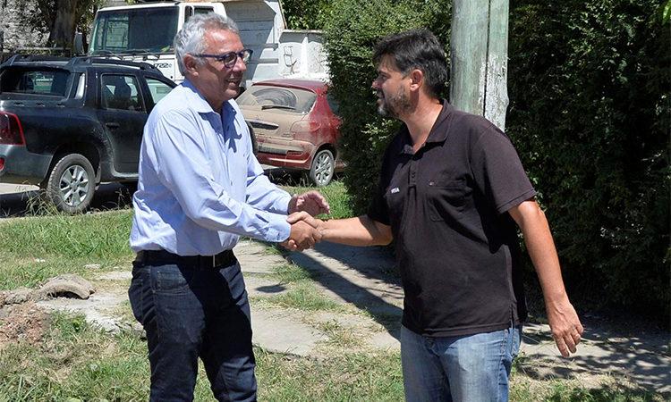 Julio Zamora supervisó obras de asfalto en Benavídez