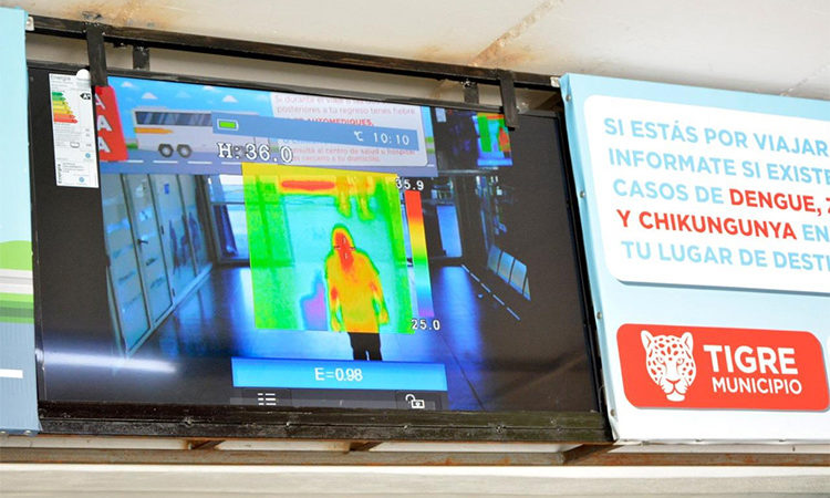 Tigre activó un puesto sanitario con cámara termográfica para detectar posibles casos de Dengue
