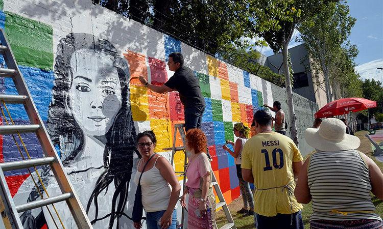 Con la mujer como protagonista, Tigre impulsó un nuevo mural participativo en Don Torcuato