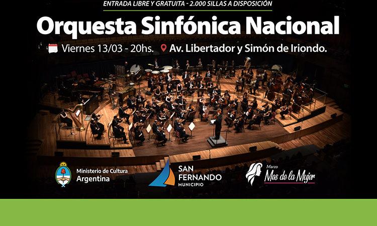 La Orquesta Sinfónica Nacional se presentará en San Fernando