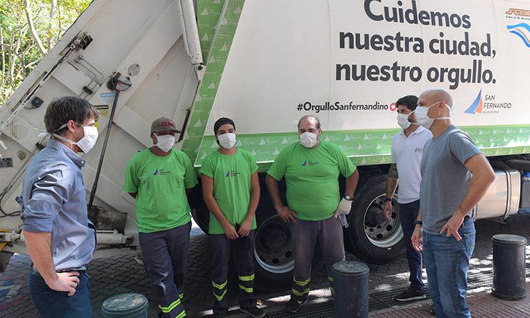 Andreotti felicitó a los trabajadores encargados de la recolección de residuos por su labor en la cuarentena