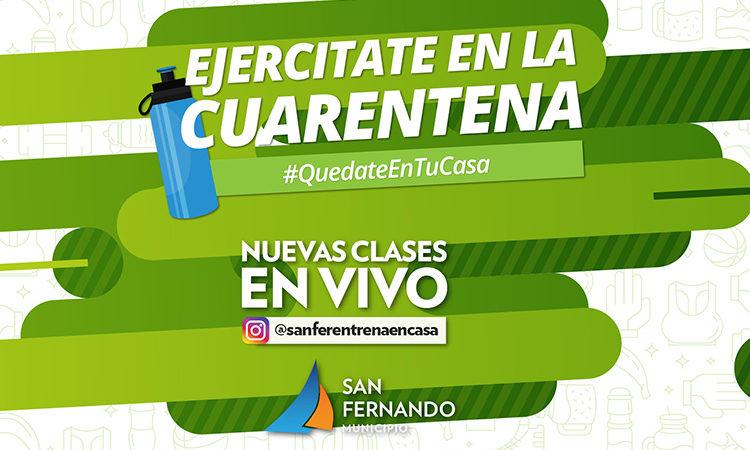San Fernando entrena en casa: nuevas clases deportivas en vivo por Instagram