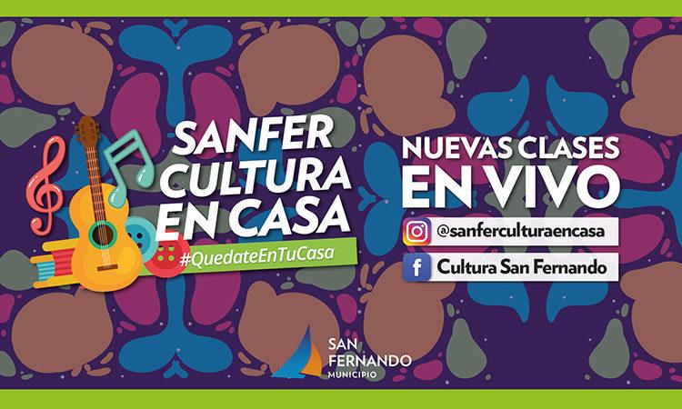 San Fernando Cultura en Casa: clases y actividades en vivo por Instagram y Facebook