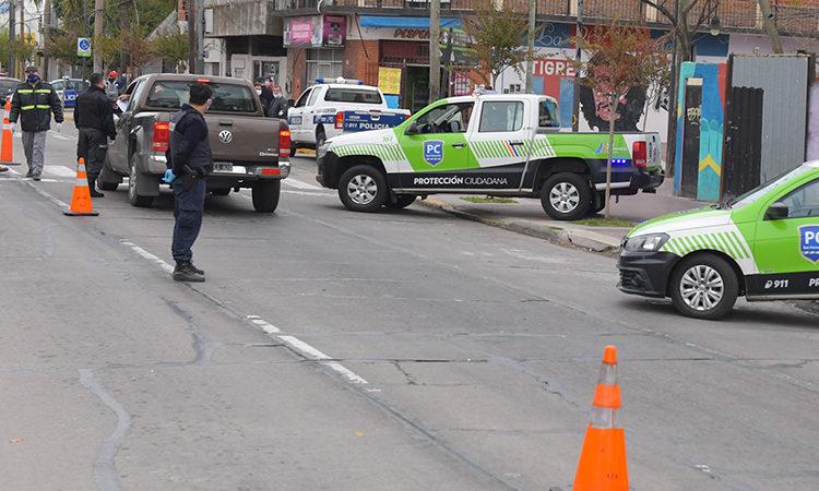 1108 detenciones en los controles de seguridad en San Fernando