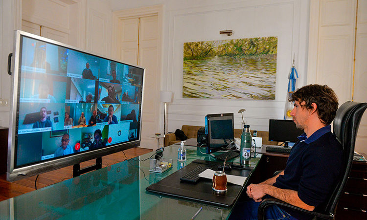 Juan Andreotti se reunió con Intendentes, Rodríguez Larreta y Pedro Cahn en videoconferencia