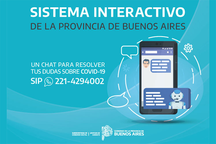 La Provincia lanzó un chat para brindar información sobre COVID-19