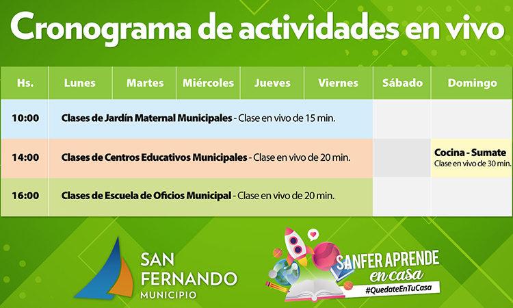 San Fernando aprende en casa: clases educativas en vivo por redes sociales