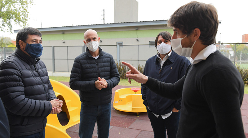 Andreotti firmó convenios con Arroyo para fortalecer la asistencia por coronavirus y construir una Unidad de Desarrollo Infantil