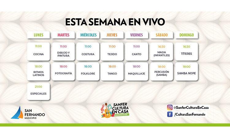 En la Semana de Mayo, San Fernando transmite en vivo diversas propuestas culturales
