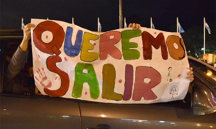 Protesta anticuarentena de countries de Tigre