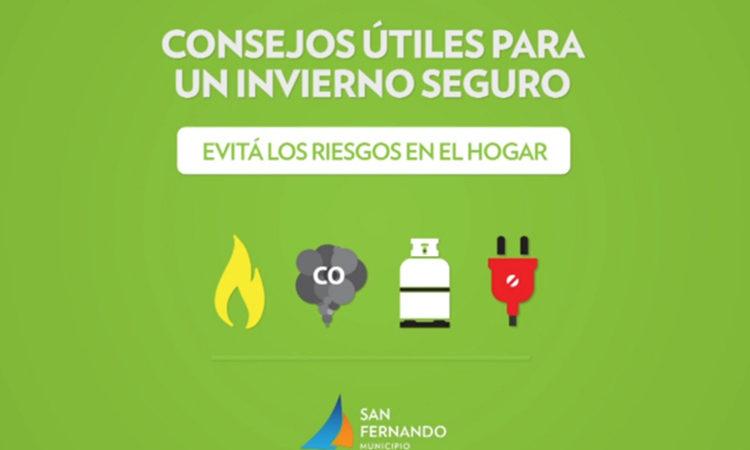 San Fernando difunde precauciones para evitar los accidentes en casa durante el invierno