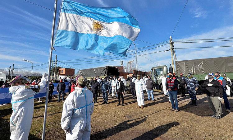 En el barrio San Jorge, Tigre y el Ejército Argentino conmemoraron el bicentenario del paso a la inmortalidad de Manuel Belgrano