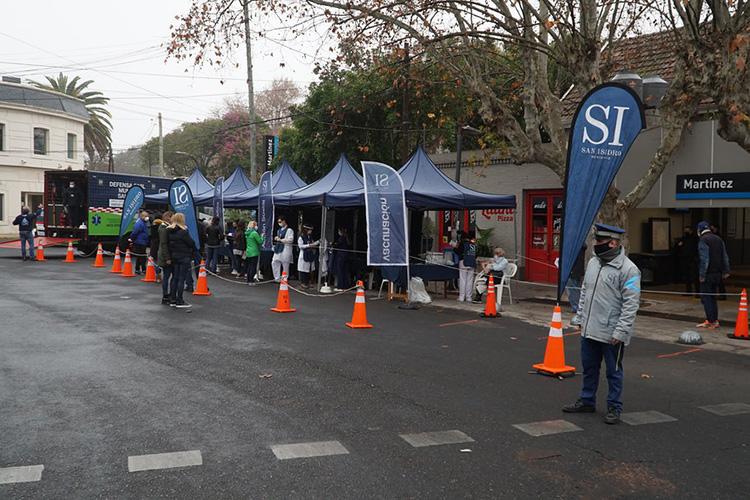 Búsqueda activa de Covid-19 en San Isidro: 504 vecinos en los puestos móviles de Martínez y Las Lomas