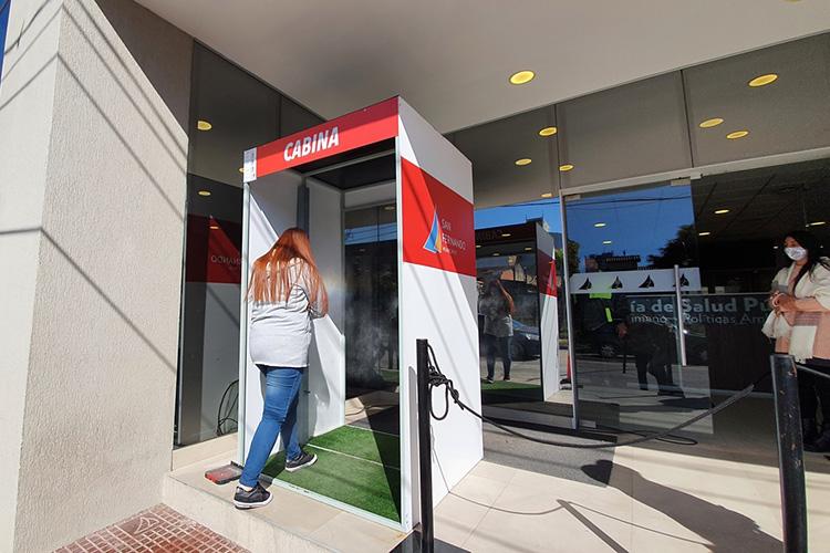San Fernando instaló una nueva Cabina Sanitizante y refuerza la prevención en los trabajadores municipales