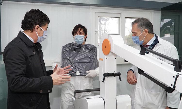 Nuevo equipo de rayos X en el módulo sanitario del Hospital Central