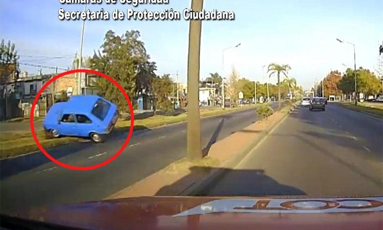 Conducía con 1,26 g/l de alcohol en sangre y volcó violentamente en Tigre