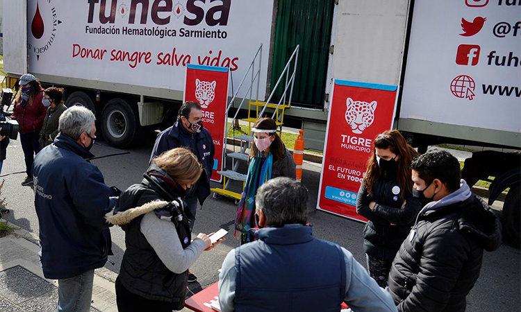 Junto a entidades intermedias, Tigre incentiva la donación de sangre