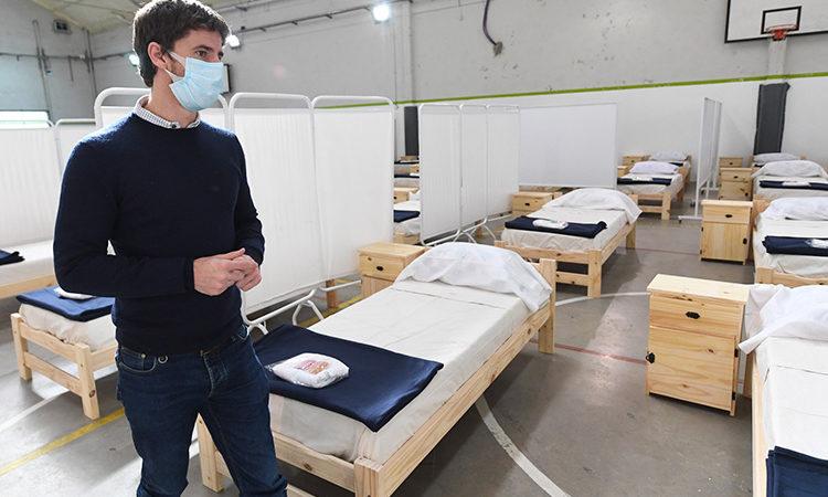 Juan Andreotti supervisó los Centros de Aislamiento de coronavirus de San Fernando