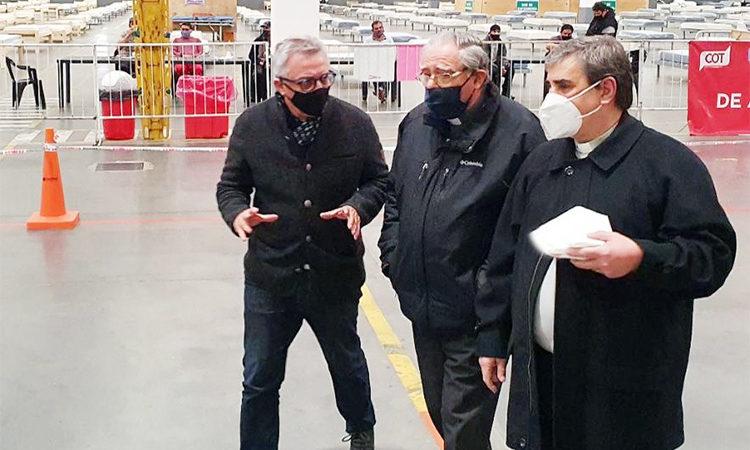 Monseñor Oscar Ojea recorrió el Centro de Aislamiento Covid-19 de Tigre junto al intendente Julio Zamora