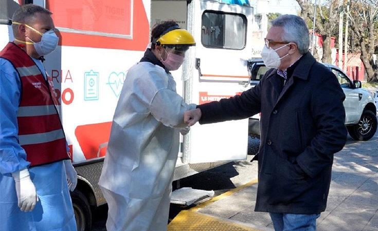 Julio Zamora supervisó un nuevo operativo de detección de casos sospechosos de COVID-19