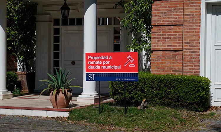 San Isidro manda a remate una mansión lujoda por un deuda millonaria de ABL